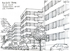 Liège, rue Louis Jamme (gerard michel) Tags: liège belgium architecture rue sketch croquis