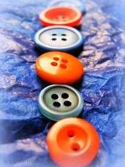 Macro Mondays - Orange and Blue - HMM : ) (pics by paula) Tags: macromondays orangeandblue picsbypaula macro close up buttons contrast bright colour color hmm