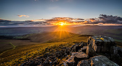Beautiful evening at the Sugar Loaf Mountain (karlmccarthy1969) Tags: breconbeacons rocks flowers sun wales mountain sunset