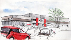 Toyota saleroom and workshops, Clifton Moor, York