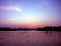 Belgrade confluence (Misko78) Tags: mamiya m645 sekorc45mm28 sunset velvia100f fujihunt fuji slide e6 jobo atl1000 chrome belgrade confluence ušće sky evening film 120 120tf microtek
