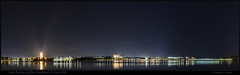 LBG Night Pano (317818WLJ) Tags: lbg canberra lakeburleygriffin canon50d sigma20mmf18 merged stitched hugin pano panorama water night april2010
