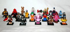 71017 lego the lego batman movie minifigures 2017 set of 20 loose complete - see description for names (tjparkside) Tags: lego 71017 batman movie series collectable minifigure minifigures mini figure figures fig figs 20 twenty set lobster lovin glam metal fairy clan cave vacation barbara gordon commisioner arkham asylum joker robin dick grayson pink power batgirl red hood eraser nurse harley quinn orca zodiac master catman march harriet calculator king tut mime 2017 loose complete