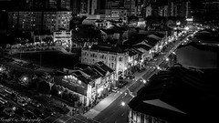 Chinatown - 牛车水 (Gerald Ow) Tags: long exposure black white bw sony a7rii a7rm2 a7r2 geraldow singapore chinatown fe 1635mm f4 za oss southbridgeroad 桥南路 牛車水 monochrome night photography ilce7rm2
