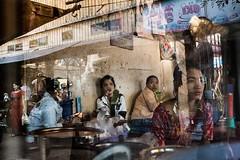 A busy tea shop in Ye, Myanmar. (jessekirkwood) Tags: ifttt instagram myanmar ye tea shop street reflection window travel fujix fujifilmasia fujifilm xt2