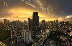 Jakarta on Burn, ITC Ambassador (Jose Hamra Images) Tags: jakarta city cityscape itc ambassador architecture indonesia sunset sunrise longexposure