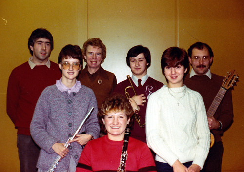 1983 Robinson Crusoe 18 (from left Tony Carr, Christine Heward, Isobel Bickerstaff, Dawn Wragg, Robert Woffinden, Rona Burkinshaw, Brian Barber)