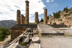 """The Sacred Way - XV – Apollo's Temple (egisto.sani) Tags: delfi sito """"late classical period"""" tardo classico periodo"""" xenodoros agathon """"apollo's temple"""" """"temple apollo"""" """"tempio di phocis focide delphi """"archaeological museum"""" """"museo archeologico"""""""