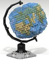 Lego Globe (LDD Building Instructions) by  Cap. Ammogeddon (Repubrick.com) Tags: repubrickcom buildinginstructions lego ldd globe planet space earth collect create moc