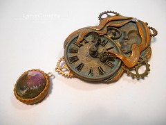 Time Heals All Wounds (LynzCraftz) Tags: polymerclay resin swellegant steampunk pendant necklace oneofakind handmade