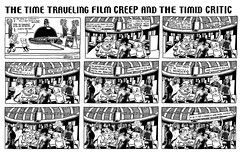 Time Traveling Film Creep and Timid Critic - Ghost in the Shell  1003 (Brechtbug) Tags: the barnacle twin presents time traveling film creep timid critic skull island a brecht newspaper cartoon without paper comic comics theater theaters theatre movie movies films new york city brechtbug gadfly nyc 2017 comix ape gorilla gorillas cartoons beware cinema creeps segue segway timemachine machine ghost shell