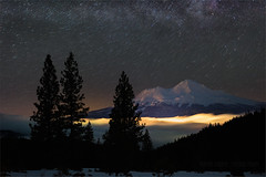 Winters Trails (Maddog Murph) Tags: star trails milky way mt shasta winter snow trees city fog long exposure above clouds galaxy space night nightscape astro mountains cascades cascade california northern trinity wilderness nps ngc