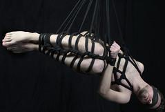 d- hanging 1 (shibarigarraf) Tags: shibari bondage kinbaku shibarigarraf male suspension rope