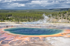 Grand Prismatic Spring (Steven Olmstead) Tags: hotsprings geothermal yellowstone landscape mineralized wyoming d610