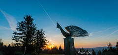 Sonnenuntergang Ringberghotel (pego28) Tags: germany thüringen thueringen 2017 nikon nikkor d800 suhl ringberg ringberghotel sunset sonnenuntergang sky himmel blau blue skulptur kunstwerk art sculpture