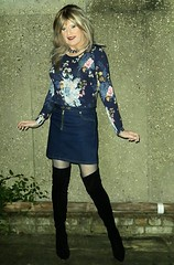 Denim Mini (Amber :-)) Tags: denim mini skirt tgirl transvestite crossdressing