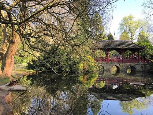 #Японский #сад (#Japan #Garten #Cologne #Leverkusen #Germany) Japanischer Garten im Erholungspark des Bayerwerks in Köln/Leverkusen с Чайным домиком (#Teehaus). Созданный больше 100 лет назад, в 1912 году, Японский сад в Кельне, расположен на севере Кельн
