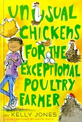 Unusual Chickens for the Exceptional Poultry Farmer (Vernon Barford School Library) Tags: kellyjones kelly jones katiekath katie kath unusualchickens chickens exceptional poulty bird birds farmer farmers farm farms epistolaryfiction epistolarynovels epistolary novel novels fiction letter letters fantasy fantasyfiction hispanicamerican hispanic humour humor humourous humorous california farmlife paranormal supernatural raciallymixedpeople raciallymixed yrca youngreaderschoiceawards yrcanominee yrcanominees award awards junior juniordivision 2018 vernon barford library libraries new recent book books read reading reads high middle school vernonbarford fictional hardcover hard cover hardcovers covers bookcover bookcovers paperoverboard 9780385755535
