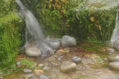 South Wales (daveknight1946) Tags: wales glamorgan mini waterfall moss green stones grey water