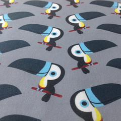 Cute toucans fabric (PetitsPixels) Tags: toucan bird cute pattern surfacedesign fabric tissu fabricoftheday fabricdesign animal
