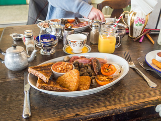 Full English breakfast from the Dome Vintage tea room Worthing