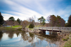 3-web-watermark-L (Brian M Hale) Tags: uxbridge ma mass massachusetts new england newengland outside outdoors nature brian hale brianhalephoto bridge wood wooden sky graduated nd neutral density lee filters little stopper long exposure river bend farm