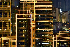 Golden cages (Sumarie Slabber) Tags: rockwellcity philippines sumarieslabber city night lights architecture buildings manila lines
