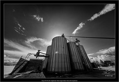 Sony A7R IR with Voigtlander Heliar-Hyper Wide 10mm f/5.6 Aspherical (Dierk Topp) Tags: a7r bw himmel ilce7r ir sonya7rir voigtlanderheliarhyperwide10mmf56aspherical clouds infrared landscapes monochrom sw sony wolken blackandwhite industry sky cloudsky old ruralscene builtstructure outdoors nopeople abandoned cloudscape storm nature farm landscape dramaticsky agriculture nonurbanscene