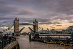Tower Bridge in action (James Waghorn) Tags: spring thames sigma1750f28exdcoshsm d7100 river topazclarity water urban city boat towerbridge toweroflondon london clouds tourists england