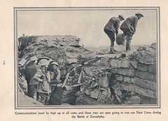 Laying new communication lines during the Battle of Zonnebeke, Belgium - WW1 (Aussie~mobs) Tags: ww1 australia army military aif anzac 1917 soldier communication lines battleofzonnebeke belgium polygonwood