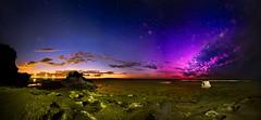 Aurora Dawn (Lachlan Manley Photography) Tags: auroraaustralis southernlights southernaurora rockpools beach dawn lowtide colourfulsky