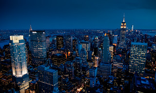 A view from the Top of The Rock.