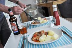 sausages and ipa (118/365) (werewegian) Tags: sausage casserole potatoes ipa caravan friday werewegian apr17 365the2017edition 3652017 day118 28apr17 iatethis theotheralan