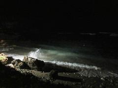 Wave crashing, shore lit at night below Atlantis Hotel, Bathsheba, Barbados (Paul McClure DC) Tags: bathsheba barbados westindies stjoseph caribbean apr2017 scenery