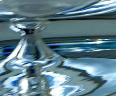 Birthday Present (jesse1dog) Tags: macromondays macro tabletop glass blur decanter present birthday intentionalblur blue curved