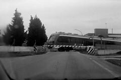 Instant train (pierocarrozzo) Tags: praktica tl 1000 ilford hp5 400 800 salento italy italia pellicola film photography treno train stazione binario binari che passa corsa