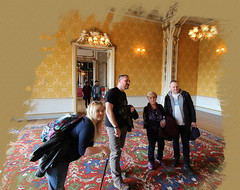 Family in Wrest Park House (ec1jack) Tags: stgeorgesday wrestpark englishheritage bedfordshire england britain uk europe tradition spring april ec1jack kierankelly canoneos600d rural countryside 2017 silsoe countrypark mk454hr festival heritage stately home house manor
