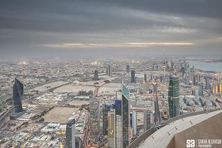 Kuwait - Hazy Sunset Of Kuwait City