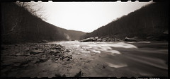 Cheat River Narrows (DRCPhoto) Tags: zeroimage612b pinhole lenslessphotography kodakbw400cn cheatriver film westvirginia