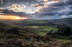 Yorkshire (Glen Parry Photography) Tags: field fields sunset rocks clouds glenparryphotography landscape calderdale d7000 moor moorland nature nikon sigma todmorden walking walsden