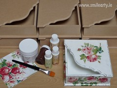 Box in Shabby Chic Style (Smile Arty) Tags: gift present vintage handmade decoupage crafts arts paint supplies napkins stensils box mdf diy workshop shabby chic advanced