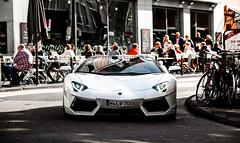 White Lamborghini. (FB CS) Tags: lambo lamborghini avanetador aventador lp7004 lp700 4 roadster coupe 50th anniversary edition white v12 ferrari 458 italia spider speciale 488 gtb köln cologne düsseldorf