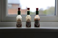 Hot stuff (Rockallpub) Tags: tabasco hot old bottles sauce eos6d 100 ef24105mmf4