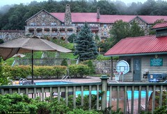 Pool at Mountain Lake Lodge, Pembroke Virginia (PhotosToArtByMike) Tags: mountainlakelodge pool swimmingpool dirtydancing hotel pembrokevirginia va pembroke appalachianmountains stonebuilding gilescounty patrickswayze jennifergrey southwesternvirginia naturepreserve
