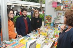 Mónica Oltra, Nacho Larraz i Lola Carrasco en la caseta de L'Esplai 29/04/17