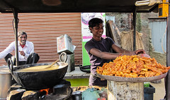 IMG_34367 (Manveer Jarosz) Tags: bahjoi bharat bhejoi hindustan india moradabad uttarpradesh wwoof desi dessert guy jalebi man mithai people pile rural smile street sweets town