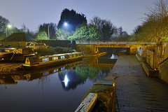 Staffordshire and Worcestershire Canal, Oxley Moor Road, Wolverhampton 11/03/2017 (Gary S. Crutchley) Tags: staffordshire and worcestershire canal oxley moor road wolverhampton uk great britain england united kingdom urban black country blackcountry staffs west midlands westmidlands nikon d800 history heritage night shot nightshot nightphoto nightphotograph image nightimage nightscape time after dark long exposure evening travel slow shutter raw 1635mm f40g af s ed nikkor navigation cut inland waterway bcn narrowboat lock walsall junction wyrley essington canalscape scape