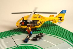 ADAC Rescue Helicopter (1) (Kit Bricksto) Tags: 2 rescue lego version medical helicopter minifig minifigs v2 eurocopter adac rotor ec135 minifigure moc minifigures cuusoo