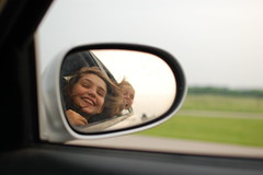 Loving the journey (radargeek) Tags: oklahoma driving wind rearviewmirror fave okc ok