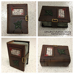 Cthulhu Mythos inspired Diary - Foamidable Book Prop (Nerfenstein) Tags: book diary cthulhu occult prop antiquity arcane eldersign sigil antiquebook leatherbook